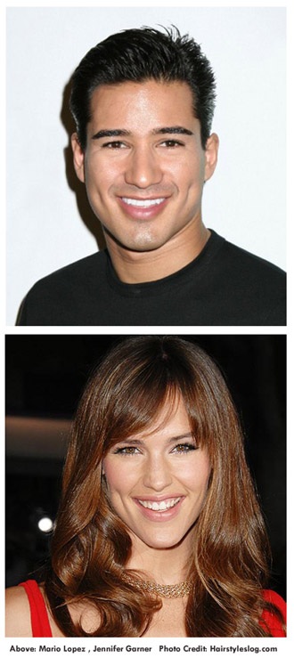 Mario Lopez and Jennifer Garner
