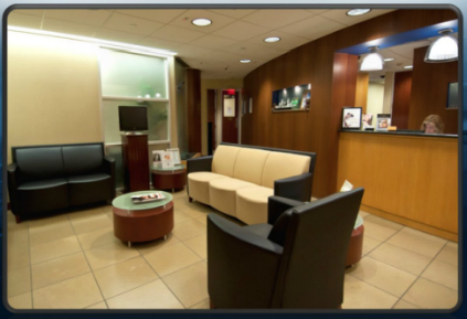 Prasad Cosmetic Surgery Garden City Office waiting room