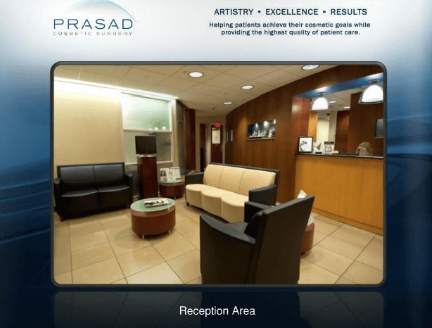 Prasad Cosmetic Surgery Garden city Office, reception area