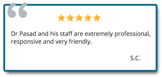 Dr. Prasad and his staff are extremely professional, responsive and very friendly. Reviewer: S.C.