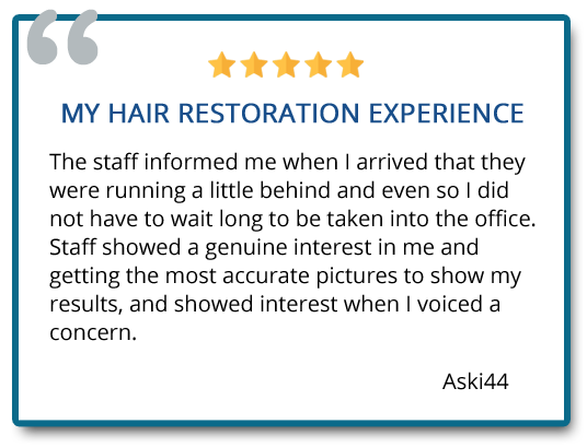 Staff showed a genuine interest in me and getting the most accurate pictures to show my results, and showed interest when I voiced a concern. Reviewer: aski44