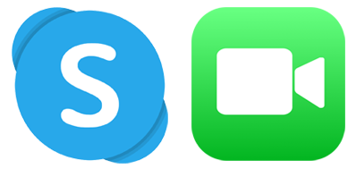 skype and facetime icons