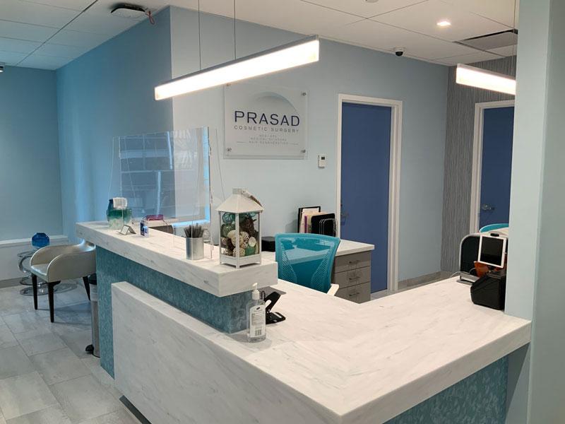 reception desk Prasad Cosmetic Surgery Midtown Manhattan