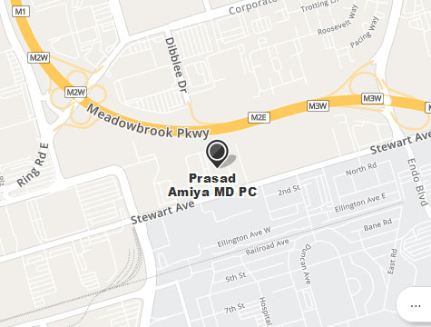 Prasad Cosmetic Surgery Garden City Long Island Office Location Map