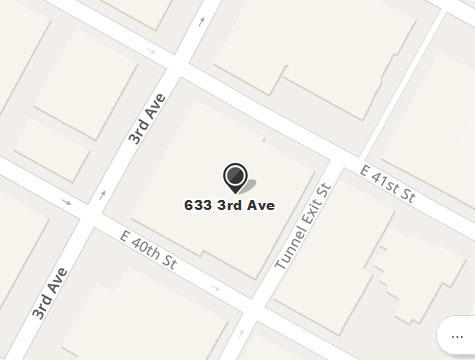 Prasad Cosmetic Surgery Manhattan New York City Office Location Map