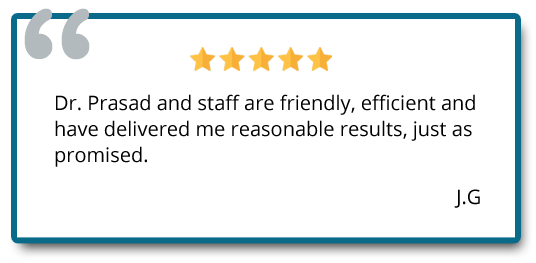Patient reviewed Dr. Prasad and staff