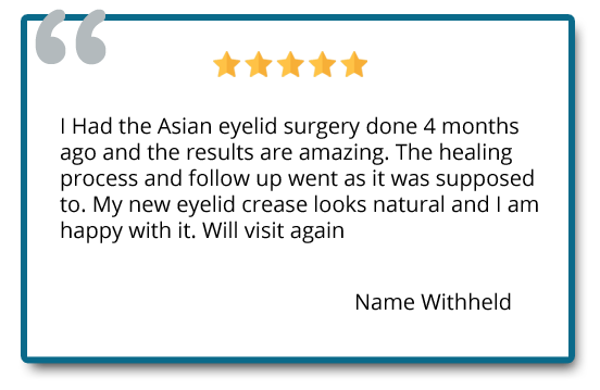patient review on double eyelid surgery and healing