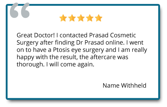 I went on to have a Ptosis eye surgery and I am really happy with the result, the aftercare was thorough. I will come again. Reviewer: Name withheld