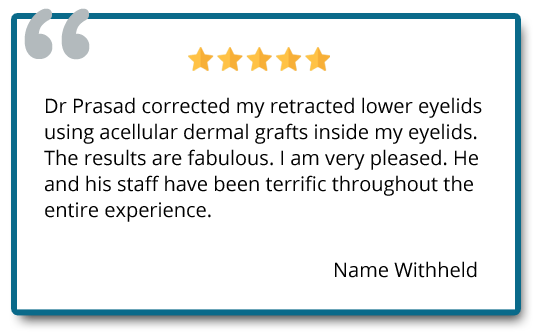 patient reviews on eyelid retraction surgery