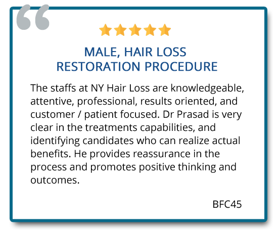 hair restoration review from male patient
