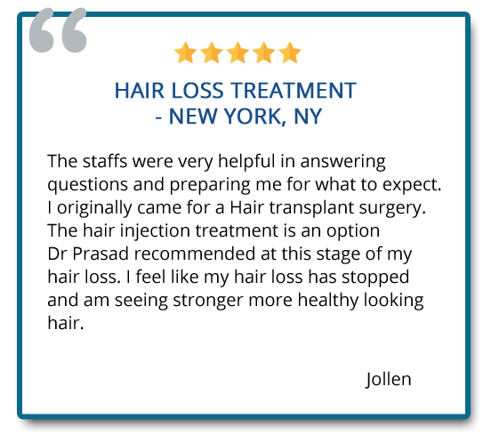 patient reviews on non-surgical hair loss treatment