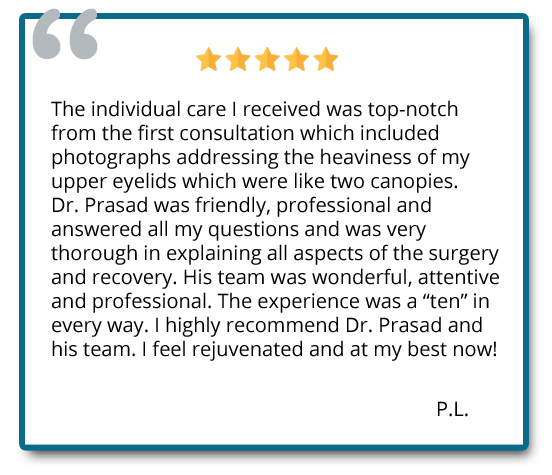 patient reviews on upper eyelid surgery