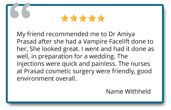 patient review on vampire facelift